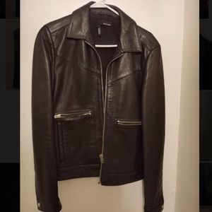 Men's Black Leather Jacket from The Kooples